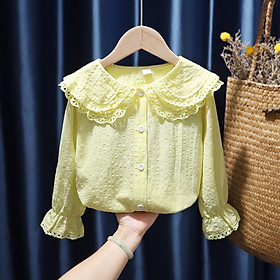 Baby Quần Áo Nữ Cotton Áo Sơ Mi Dài Tay Cho Bé Gái Quần Áo Trẻ Em Tops Cô Gái Áo Sơ Mi 0-5 Năm