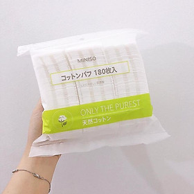 Bông Tẩy Trang Miniso Only The Purest Cotton Pads 180 Miếng-2