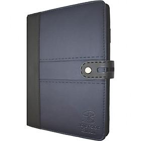 Sổ da khuy bấm 260 trang B5 Klong Bureau - TP345 màu xanh tím than