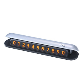 i-mu Luminous Temporary Parking Card Sticky Hidden Mobile Phone Cellphone Number Plate Temporary Parking Contact