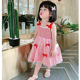Váy đầm công chúa 2 dây cho bé gái từ 8-20kg