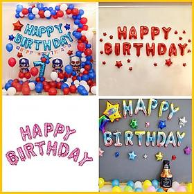Bong bóng chữ Happy Birthday trang trí sinh nhật - Phụ kiện trang trí tiệc sinh nhật cao cấp - Bóng sinh nhật size lớn
