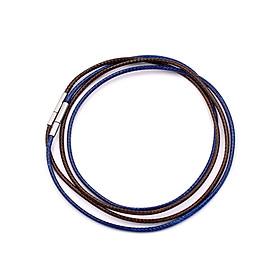 Combo 2 sợi dây vòng cổ cao su - xanh dương + nâu DCSXDN1