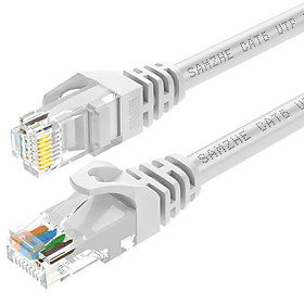 Shanze (SAMZHE) six types of cable CAT6 Gigabit high-speed network line indoor and outdoor 8-core network cable Category 6 computer TV router cable GRE-6020 white 2 meters
