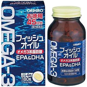Thực Phẩm Chức Năng Dầu Cá Omega 3 Orihiro Nhật Bản 180 Viên