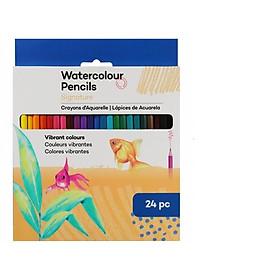 Bút chì màu nước bộ 24 màu