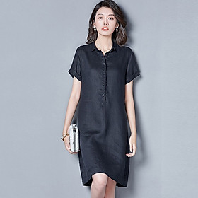 Đầm suông công sở cổ đức 2 túi sườn LAHstore, thời trang trẻ, phong cách Hàn