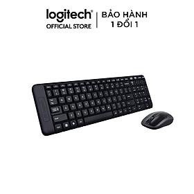 Bộ Bàn Phím Và Chuột Không Dây Logitech MK215 - Hàng Chính Hãng