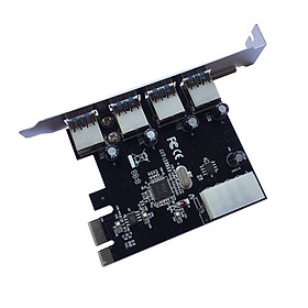 PCI Express USB3.0 4-Port Expansion Card VIA&NEC Chipset PC Adapter Card PC Converter