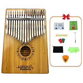 [Khắc Phím] Đàn Kalimba Gecko 17 Phím K17BA Tone C - Phân Phối Chính Hãng (Gỗ Trúc Mbira Thumb Finger Piano 17 Keys) - Kèm Móng Gảy DreamMaker