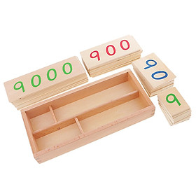 Beechwood Montessori Math Counting Learning Educational Toys 1-9000 Number Cards