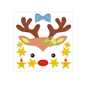 Christmas Water Sticker Self Adhesive Murals Home Decor Stars And Elks Decals For Kid Room Decor New Year Gift  Christmas Gift