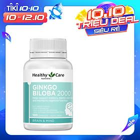 Viên uống bổ não Ginkgo Biloba Healthy Care Úc 2000 (MẪU MỚI 2020)