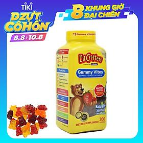 Kẹo dẻo đa Vitamin thiết yếu, Lutien và gấp đôi Canxi cho bé - L'il Critters Gummy Vites 300 viên