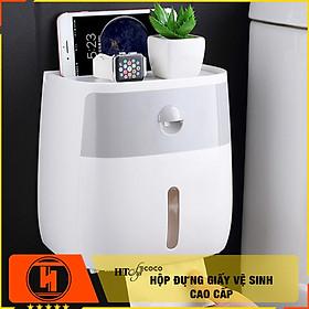 Hộp đựng giấy vệ sinh kèm kệ để đồ HT SYS-COCO - 2 tầng cao cấp có ngăn kéo thông minh