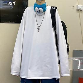 �o thun tay dài trơn form rộng �o thun sweater UNISEX SW00
