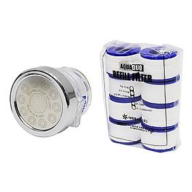Combo Vòi rửa chén ( tăng áp +lọc nước) + 8 Thanh lọc nước AquaDuo SF-1000B