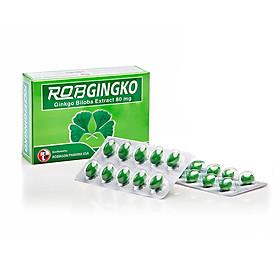 Thực phẩm chức năng hỗ trợ tuần hoàn não Robgingko – Robinson Pharma Usa - Hộp 30 viên