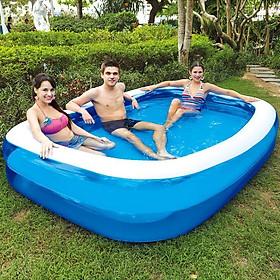 Bể bơi gia đình 260*165*60cm gia đình(tặng kèm bơm điện 2 chiều) cao cấp