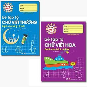Sách - Combo 2 Cuốn Bé Tập Tô Chữ Viết Thường Và Bé Tập Tô Chữ Viết Hoa - Bé Vào Lớp 1