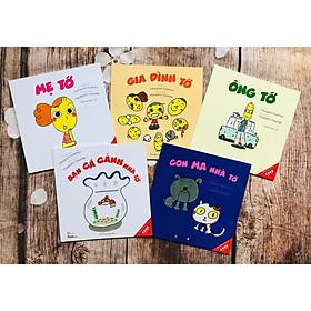 """Ehon Nhật Bản """"GIA ĐÌNH TỚ"""" Bộ sách ehon gắn kết gia đình 5 cuốn dành cho bé 0-6 tuổi"""