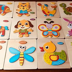 Set 10 tranh Ghép hình cơ bản cho bé mới làm quen với Ghép hình