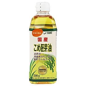 Dầu mầm gạo Nhật Bản Tsuno cao cấp KLT: 500g (Dung tích: 545ml) - Mẫu mã mới