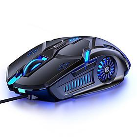 Chuột máy tính chơi game G5 ,hiệu ứng ánh sáng 7 màu , DPI 4 cấp độ phù hợp cho game thủ và văn phòng