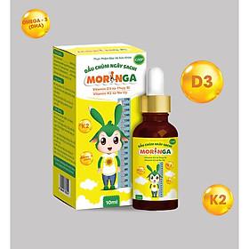 Dầu chùm ngây Sachi Moringa 10ml - Bổ sung Vitamin D3 và K2 tăng hấp thu Canxi, phát triển chiều cao, chống còi xương, suy dinh dưỡng