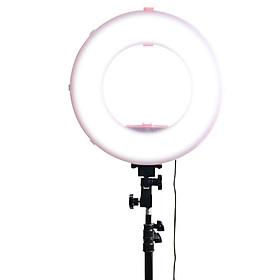 Đèn Led Ring MD250P 3200-7500K Màu Hồng 14 inch có đế gắn pin