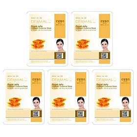 Combo 5 Mặt Nạ Dermal Tinh Chất Collagen Với Chiết Xuất Sữa Ong Chúa
