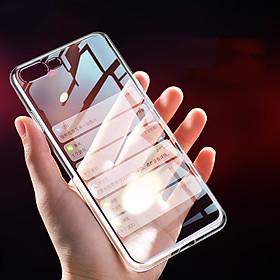 Ốp Lưng Kính Cường Lực Trong Suốt Hoàn Toàn. Lưng Kính Không Ố Vàng, Viền Máy Dẻo Cho Iphone X/ XS/ XS Max/ XR/ 7/8 Plus