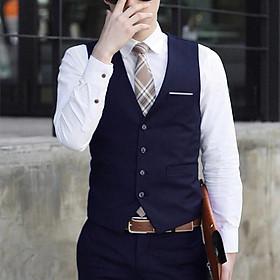 Áo gile nam 2 lớp kiểu dáng Hàn Quốc phù hợp xu hướng