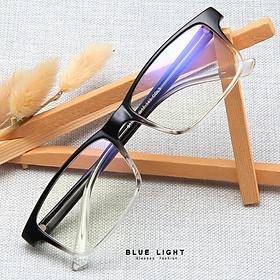 Kính Giả Cận, Gọng Kính Cận Nam Nữ Mắt Vuông Nhỏ Trong Suốt Lõi Thép Không Độ Hàn Quốc - BLUE LIGHT SHOP