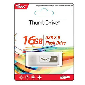 USB Trek 16GB ThumbDrive TDWHITE USB 2.0 Tốc Độ Cao - Hàng Chính Hãng