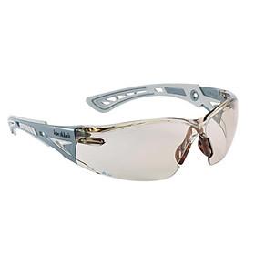Kính bảo hộ BOLLE RUSHPCSP Rush+ CSP Platinum tròng kính CSP lọc ánh sáng xanh kết hợp với lớp phủ PLATINUM chống trầy xước, chống đọng sương  (tặng kèm hộp đựng kính)
