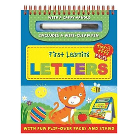 Tiny Tots Easel First Learning : Letters (Includes a wipe-clean Pen)