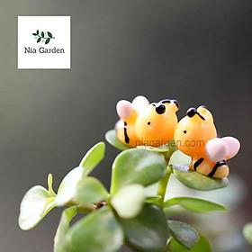 Phụ kiện ong vàng trang trí tiểu cảnh, chậu cây cảnh