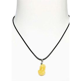 Hình đại diện sản phẩm Dây Đeo Tỳ Hưu Mông Cong Đá Hoàng Long - Vàng