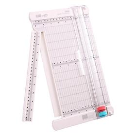 KW-trio Máy cắt giấy cầm tay Độ dài cắt 12.6 inch Máy xén giấy thủ công để bàn với Máy cắt đường gấp cạnh thẳng