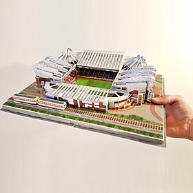 Đồ chơi lắp ráp Giấy 3D Mô hình Sân vận động Old Trafford Manchester United Kèm đèn LED