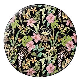 Hình đại diện sản phẩm Gối Ôm Tròn Hoa Dâm Bụt Và Lá GOHT147