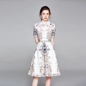 Đầm Lụa Họa Tiết Thổ Cẩm