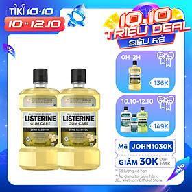 Bộ 2 Chai Nước súc miệng giúp nướu chắc khỏe Listerine Gum Care 750ml/chai 101109930