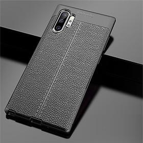 Ốp lưng silicon dẻo giả da Auto Focus cao cấp dành cho Samsung Note 10 Plus - Hàng chính hãng