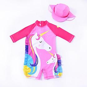 Bộ đồ bơi hình pony liền thân bé gái 7-25kg