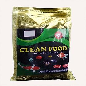 Thức Ăn Cho Cá CLEAN FOOD ( 500GR) Cao Cấp, Phù Hợp Mọi Loại Cá Cảnh, Giàu Dinh Dưỡng, Giúp Cá Lớn Nhanh, Lên Màu Đẹp