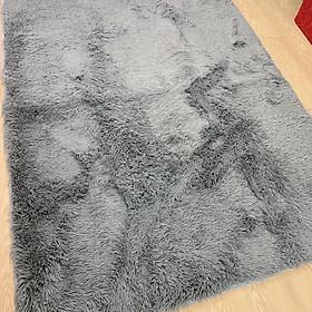 Thảm lông trải sàn 1m6x2m - màu ghi xám