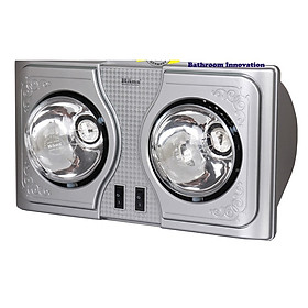 Đèn sưởi nhà tắm 2 bóng Hans H2B, hàng chính hãng