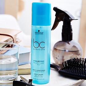 Xịt dưỡng tóc Schwarzkopf BC Bonacure Hyaluronic Moisture Kick Spray Conditioner cho tóc khô  200ml